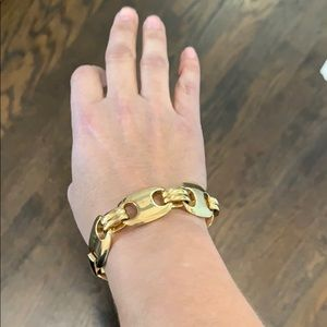 Erwin Pearl Gold Chunky Fashion Chain Bracelet
